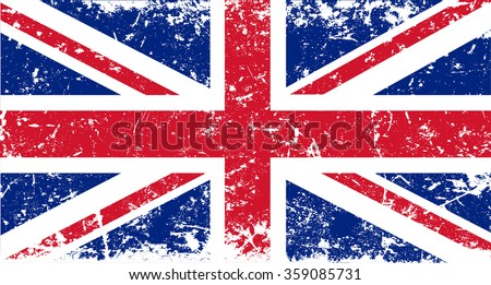 Grunge UK flag.British flag with grunge texture. - stock vector