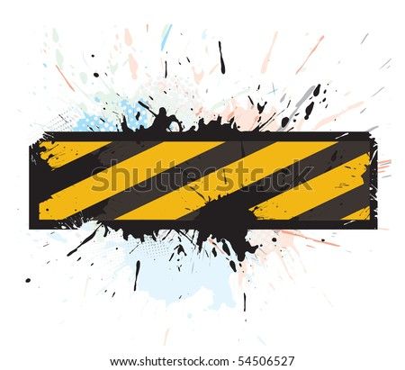 grunge under construction for internet web page, vector illustration - stock vector