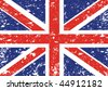 Grunge Union Jack - stock vector