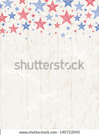grunge usa background, vector illustration - stock vector
