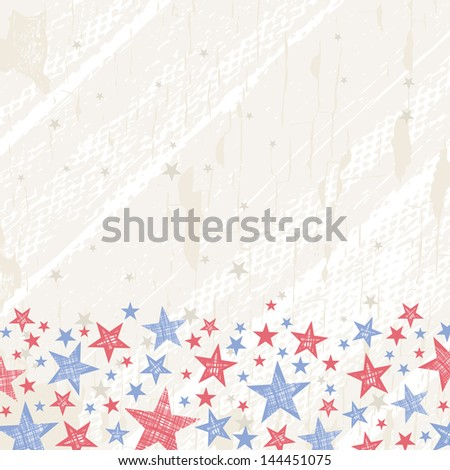grunge usa background, vector illustration - stock vector