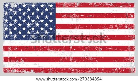 grunge usa flagamerican flag grunge texturevector stock vector