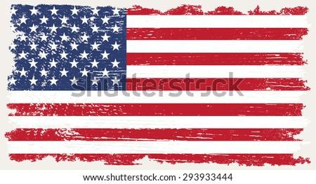 Grunge Usa Flagamerican Flag Grunge Texturevector Stock Vector ...