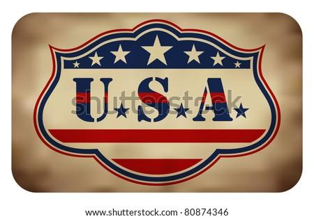 Grunge USA Sign (EPS10 Vector) - stock vector