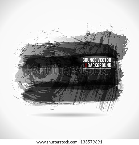 Grunge Vector Background. Hand Drawn Watercolor Illustration. - stock vector