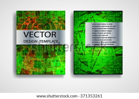 Grunge Vector Brochure Templates Magazine Layout Stock Vector
