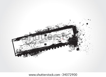grunge vector composition with sample text