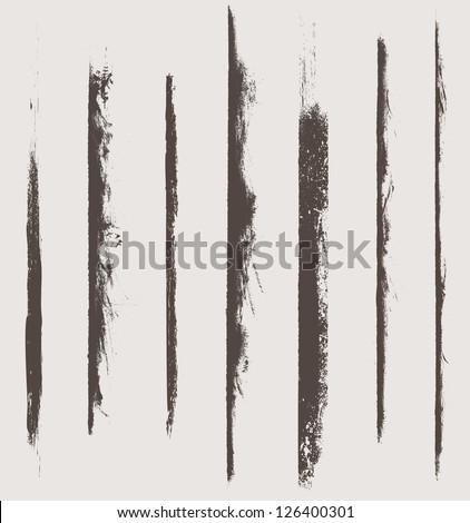 grunge vector elements and brushes - stock vector