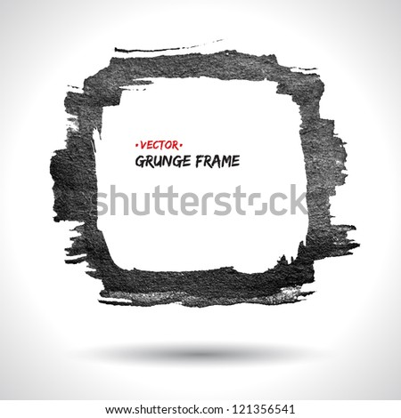 Grunge vector frame. Grunge background. Watercolor background. Retro background. Vintage background. Business background. Abstract background. Hand drawn. Texture background. Abstract shape - stock vector