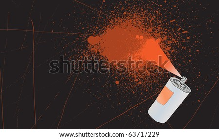 Grunge vector spray splatter background with space for your text - stock vector