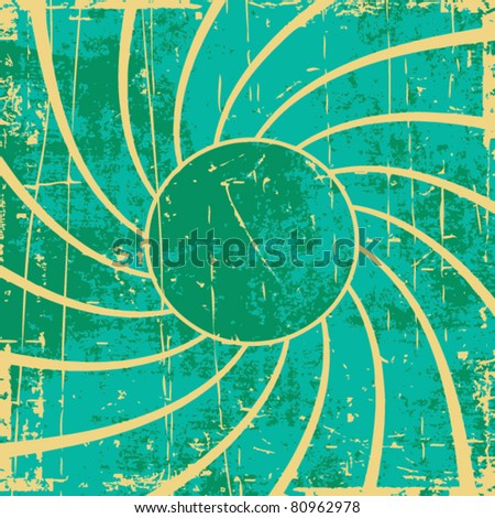 Grunge vector swirl background - stock vector