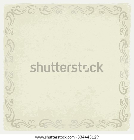 grunge vintage background with decorative frame - stock vector