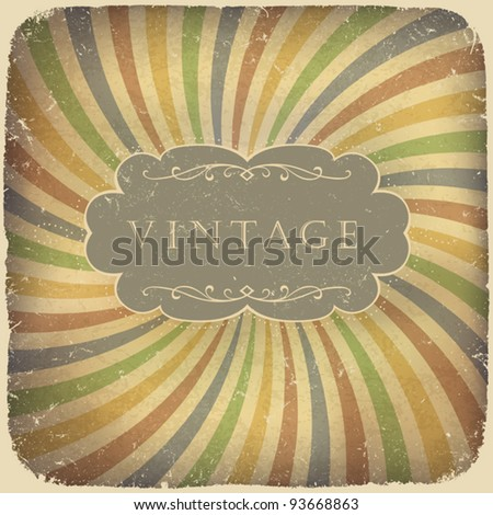 Grunge vintage card with space for text - stock vector
