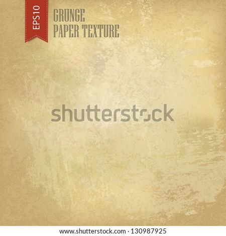 Grunge vintage old paper background. Vector, EPS10 - stock vector