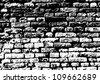 Grunge white and black brick wall background. Vector illustration. - stock photo