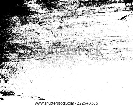 Grunge White and Black Wall Background . Distress Texture for Your Design . Vector Illustration .  - stock vector