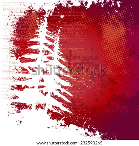 Grunge xmas background for your text - stock vector