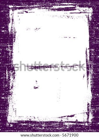 Grunged Border 5 -  Highly Detailed vector grunge graphic. - stock vector