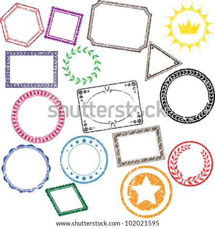 Grunged stamps - stock vector