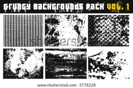 Grungy Background Pack Vol.1 - stock vector