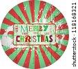 grungy christmas design, vector illustration - stock vector