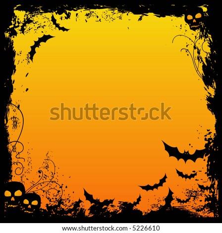 Grungy Halloween background - stock vector