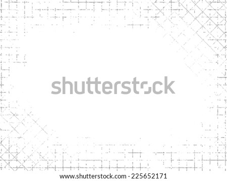 Grungy industrial texture on white background. Vector illustration  - stock vector