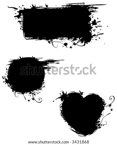 Grungy shapes - stock vector