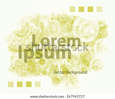 Grungy Template Text Message Watercolor Discs Stock Vector 267943727