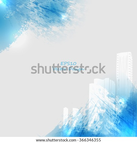 grungy urban vector design with copy space. Eps10 - stock vector