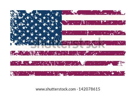 Grungy USA flag. Vector illustration - stock vector