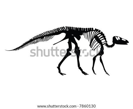 Gryposaurus fossil - stock vector