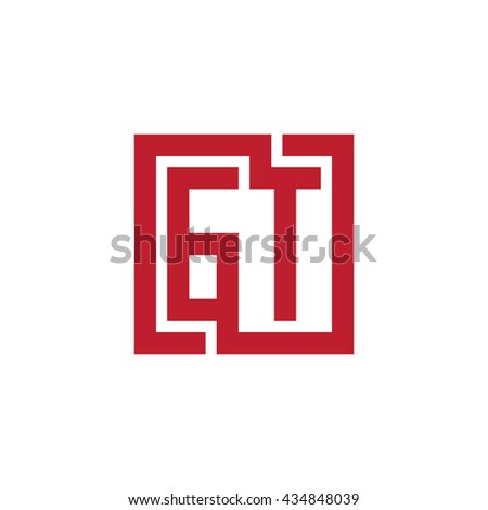 GT initial letters looping linked square logo red