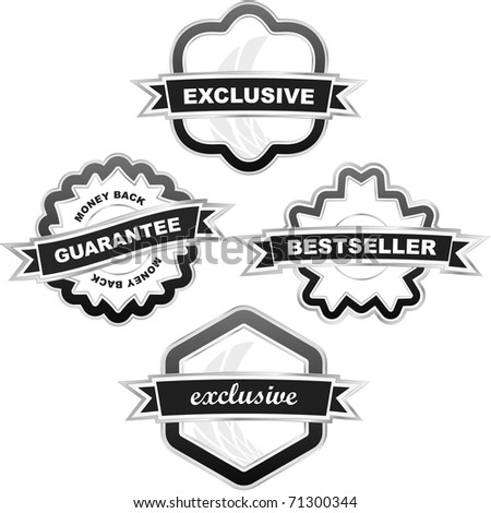 Guarantee label set for sale. Vector illustration. - stock vector