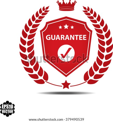 Guarantee, Label, Sticker or Icon Isolated on White Background.Vector - stock vector
