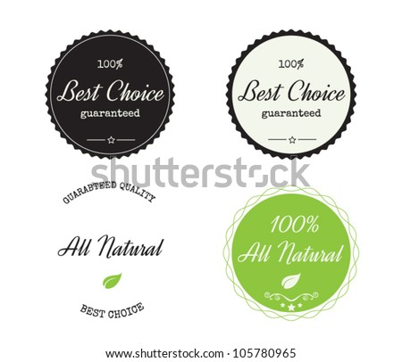 Guarantee Labels - stock vector