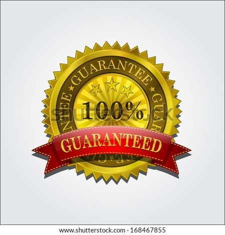 Guarantee Seal And Quality Label - stock vector