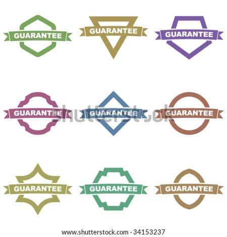 Guarantee seals. Vector set. - stock vector