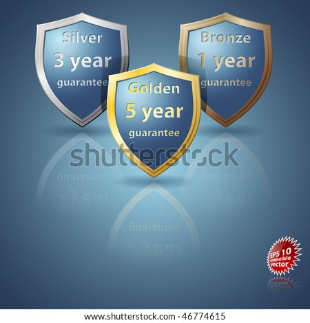 Guarantee Shields EPS 10 compatible - stock vector