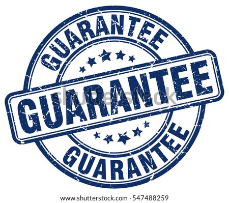 guarantee. stamp. blue round grunge vintage guarantee sign