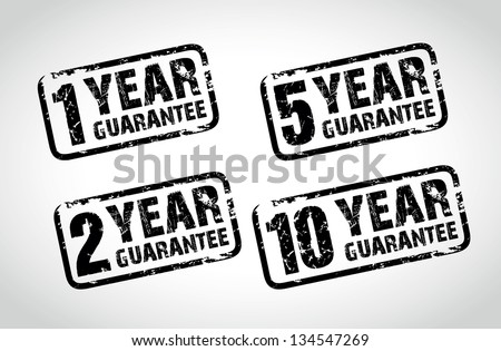 guarantee stamps - stock vector