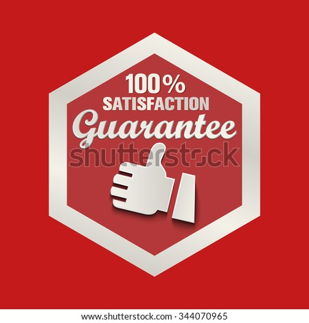 Guarantee 100% Vector label - stock vector