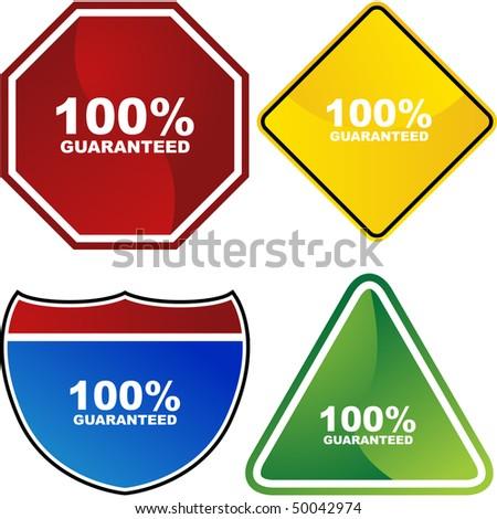 Guaranteed - stock vector