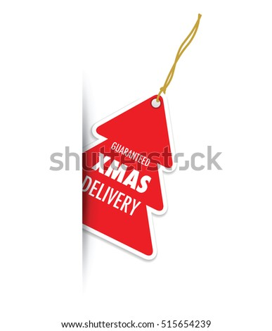 Guaranteed Christmas Delivery Tag Label Stock Vector 516179830 ...
