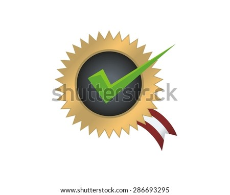 guaranteed quality icon - stock vector