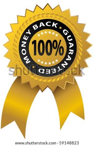 Guaranty Ribbon - stock vector