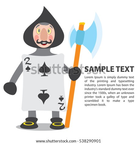 Guardsmen Playing Cards Two Spades Illustration Stock Vector (2018 ...