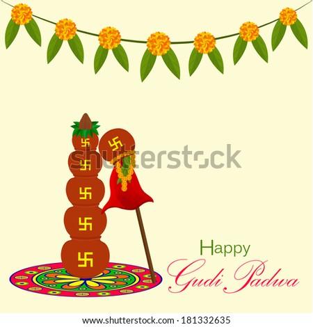 Gudi Padwa Indian Lunar New Years Day Celebrated By Marathi Hindus Konkani With Clay Pot