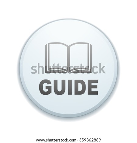 Guide button sign - stock vector