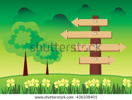 Guide post icon vector,The signpost icon. - stock vector
